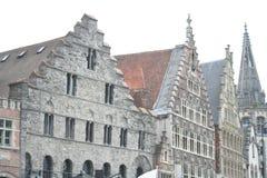 Edificio histórico agradable en Gante Bélgica Foto de archivo libre de regalías