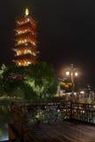 Edificio histórico de China, torre Foto de archivo