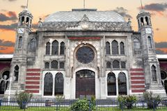 Edificio histórico de la estación Imágenes de archivo libres de regalías