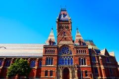Edificio histórico de la Universidad de Harvard en Cambridge Fotos de archivo