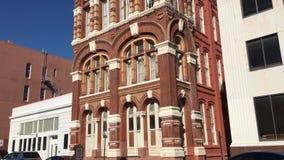 Edificio histórico de las noticias de Galveston construido en 1884 Galveston, Tejas 4K almacen de video