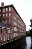 Edificio histórico del molino de Lowell Foto de archivo libre de regalías