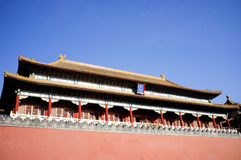 Edificio histórico dentro de la Plaza de Tiananmen fotografía de archivo