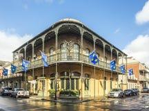 Edificio histórico en el barrio francés Foto de archivo