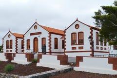 Edificio histórico en el La Ampuyenta en la isla Fuerteventura Foto de archivo libre de regalías