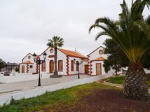 Edificio histórico en el La Ampuyenta en la isla Fuerteventura Imagen de archivo libre de regalías
