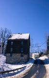 Edificio histórico en invierno Imagen de archivo