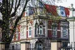 Edificio histórico en la calle de Kraków Fotos de archivo libres de regalías