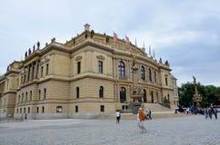 Edificio histórico en la ciudad de Praga foto de archivo libre de regalías