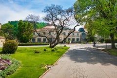 Edificio histórico en la isla del balneario en Piestany ESLOVAQUIA Foto de archivo