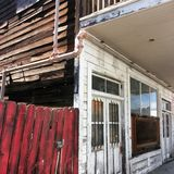 Edificio histórico en Locke, CA Foto de archivo libre de regalías