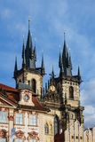 Edificio histórico en Prag, República Checa Fotos de archivo libres de regalías