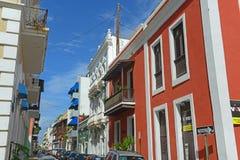 Edificio histórico en San Juan viejo, Puerto Rico foto de archivo libre de regalías