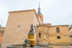 Edificio histórico en Segovia imagenes de archivo