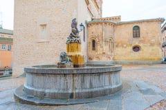 Edificio histórico en Segovia imagen de archivo