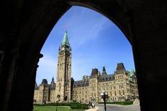 Edificio histórico del parlamento de Canadá Imágenes de archivo libres de regalías