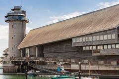 Edificio icónico BRITÁNICO de Falmouth Cornualles imágenes de archivo libres de regalías