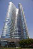Edificio icónico moderno, Abu Dhabi, UAE foto de archivo libre de regalías