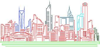 Edificio ilustrado para cualquier clase de sitios web