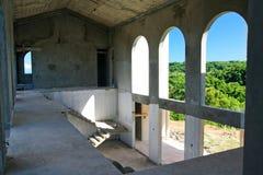 Edificio inacabado adentro Foto de archivo libre de regalías