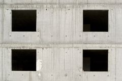 Edificio inacabado concreto gris foto de archivo