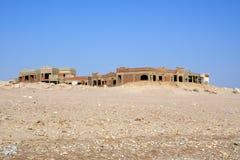 Edificio inacabado del centro turístico Foto de archivo