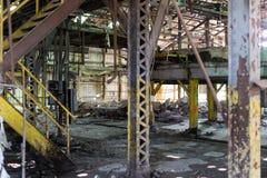 Edificio industrial abandonado Imagen de archivo libre de regalías