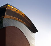 Edificio industrial. Central eléctrica formada onda Fotos de archivo libres de regalías