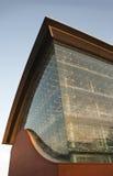 Edificio industrial futurista. Central eléctrica Imagenes de archivo