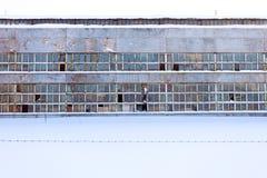 Edificio industrial grande abandonado de fábrica Imágenes de archivo libres de regalías