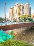 Edificio Inteligente Medellin and Rio Medellin Royalty Free Stock Images