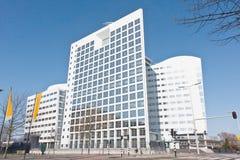 Edificio internacional del Tribunal Penal foto de archivo