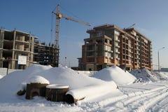 Edificio, invierno Foto de archivo libre de regalías