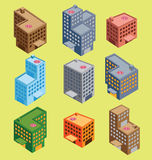Edificio isométrico Imágenes de archivo libres de regalías