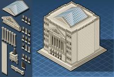 Edificio isométrico de la bolsa de acción en Nueva York Fotos de archivo libres de regalías
