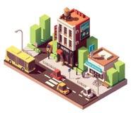 Edificio isométrico del hotel del vector libre illustration