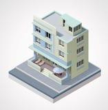 Edificio isométrico del vector
