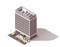 Edificio isométrico del vector Imagen de archivo libre de regalías