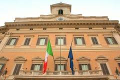 Edificio italiano del parlamento Fotos de archivo