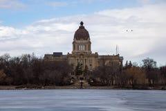Edificio legislativo de Saskatchewan en Regina, Saskatchewan Imágenes de archivo libres de regalías