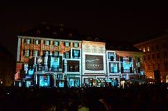 Edificio ligero de la pintura Foto de archivo