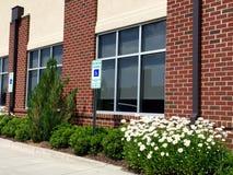 Edificio médico del ladrillo comercial Foto de archivo