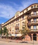 Edificio magnífico de Bristol del hotel en Colmar, Francia fotos de archivo libres de regalías