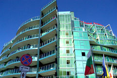 Edificio magnífico de Primorsko del hotel, Bulgaria Imagenes de archivo