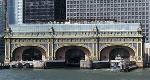 Edificio marítimo de la batería del agua en New York City fotografía de archivo libre de regalías