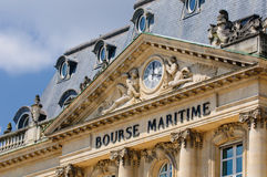 Edificio marítimo de la bolsa, Burdeos, Francia foto de archivo libre de regalías