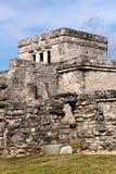 Edificio maya en Tulum México Imagen de archivo libre de regalías