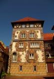 Edificio medieval con la fachada pintada en Constanza Foto de archivo libre de regalías