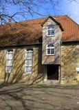 Edificio medieval de la molino-casa alemania Quakenbrueck Fotos de archivo