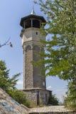 Edificio medieval de la torre de reloj en la ciudad de Plovdiv, Bulgaria foto de archivo libre de regalías